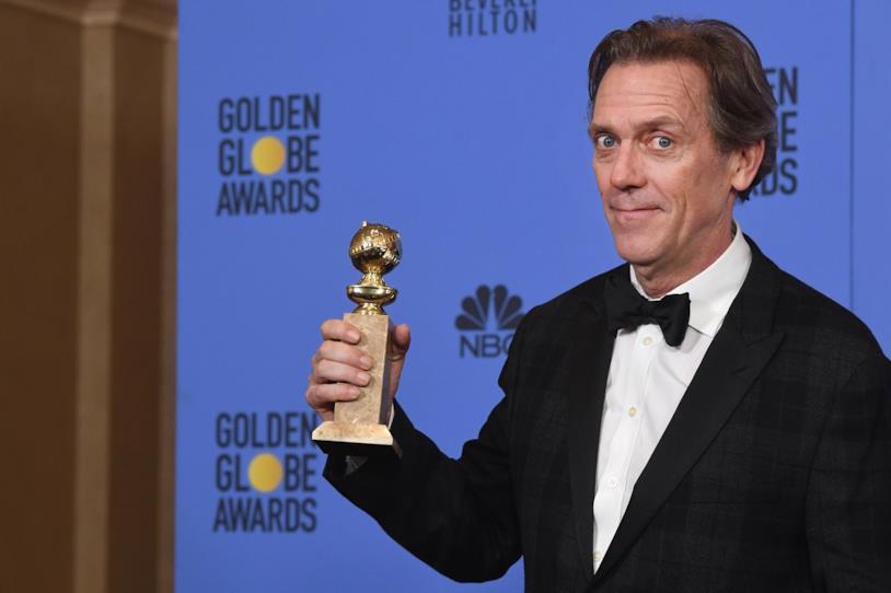 Hugh Laurie alla vittoria del suo terzo Golden Globe
