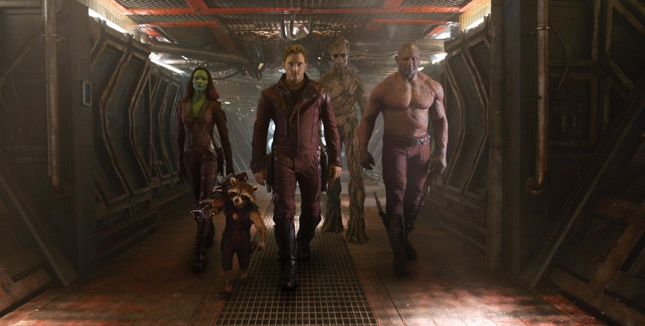 I 5 Guardiani della Galassia del film di James Gunn