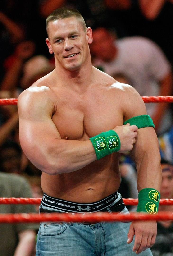 John Cena sul ring, agli inizi della carriera