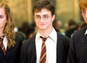 Primi piani di Emma Watson, Daniel Radcliffe e Rupert Grint in Harry Potter