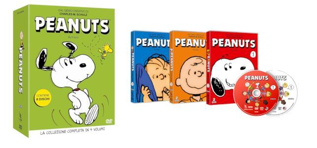 La collezione DVD di Peanuts: il cofanetto deluxe e i tre volumi già editi