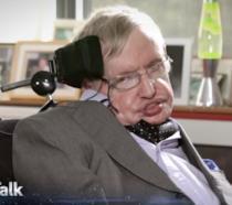 Stephen Hawking durante l'intervista per il programma radiofonico Star Talk