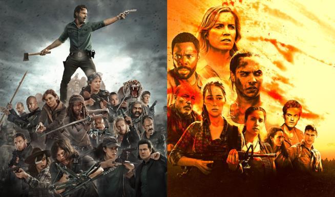 I poster di The Walking Dead e del suo spin-off si scontrano