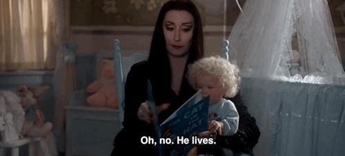 La famiglia Addams una scena dello sceneggiato