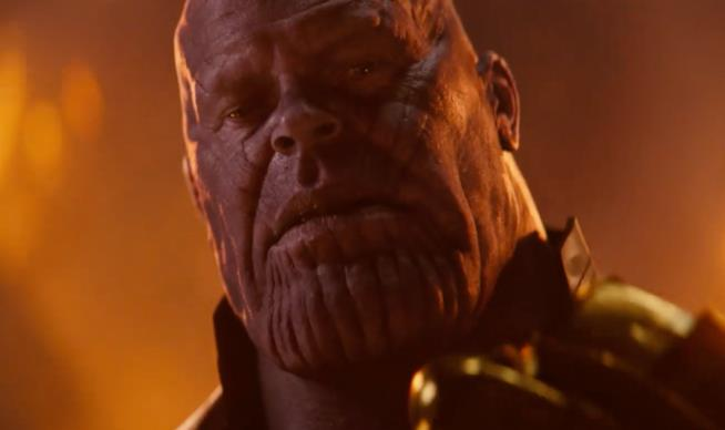 Josh Brolin nel ruolo di Thanos in Avengers: Infinity War