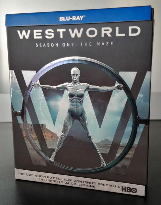 La mappa del parco visibile sulla cover del cofanetto Blu-ray di Westworld