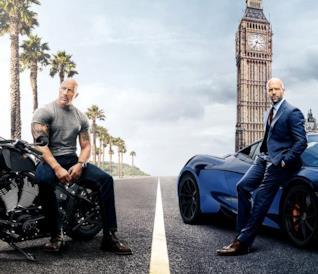 Dwayne Johnson e Jason Statham in Fast & Furious - Hobbs & Shaw