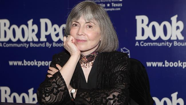 La scrittrice Anne Rice