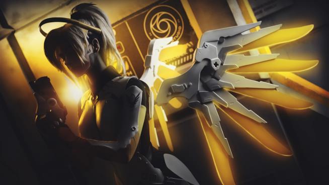 Uno splendido cosplay di Mercy da Overwatch