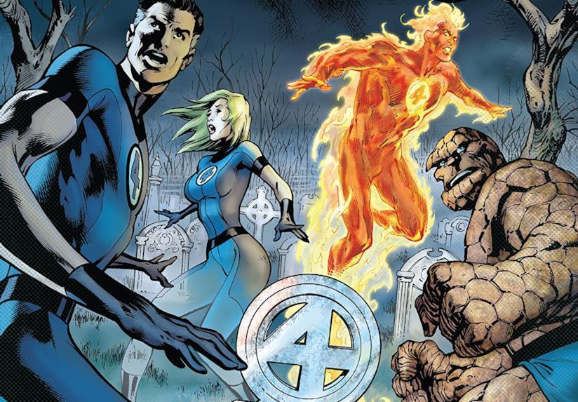Dettaglio della cover di Fantastic Four By Jonathan Hickman Vol. 4