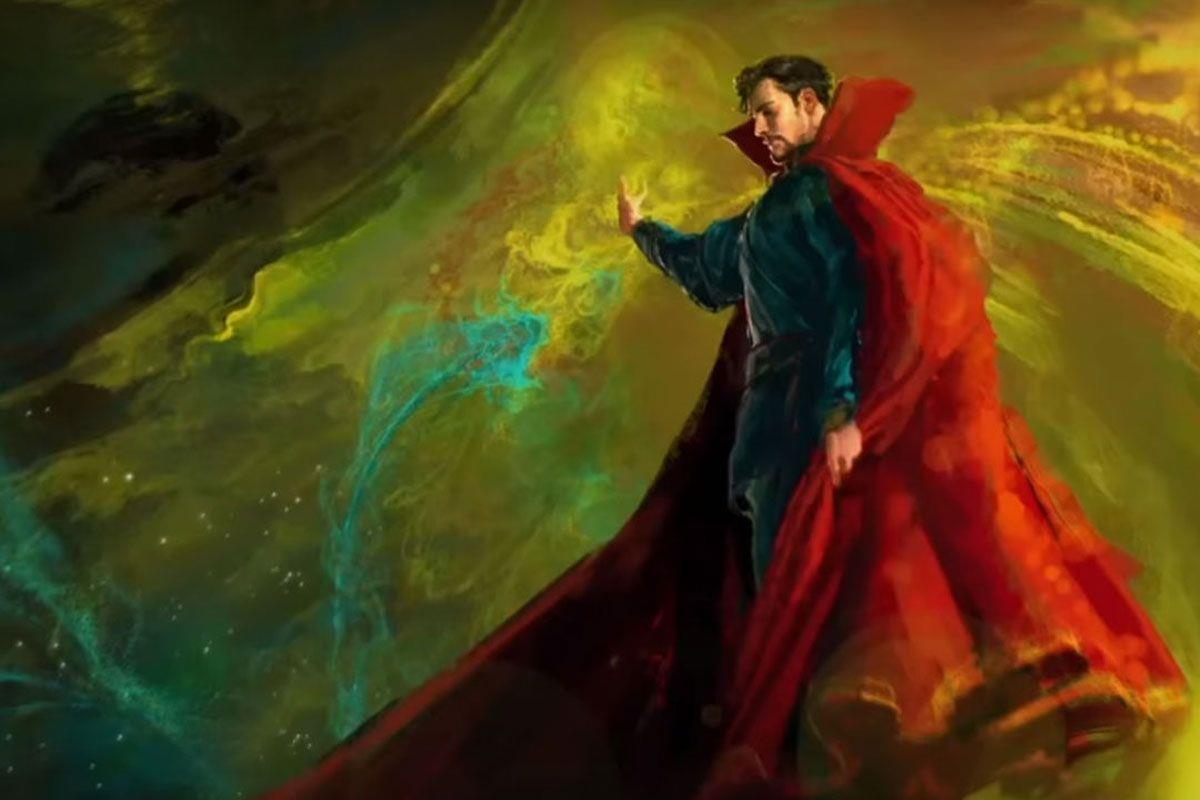 Stephen Strange in una concept art di Doctor Strange
