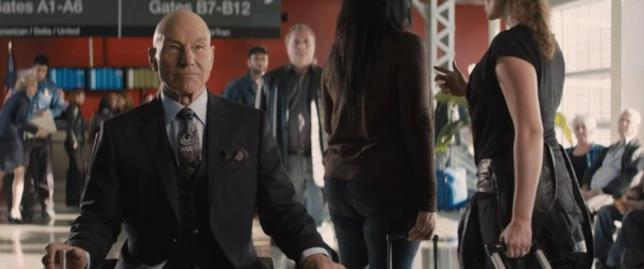 Patrick Stewart nei panni di Charles Xavier