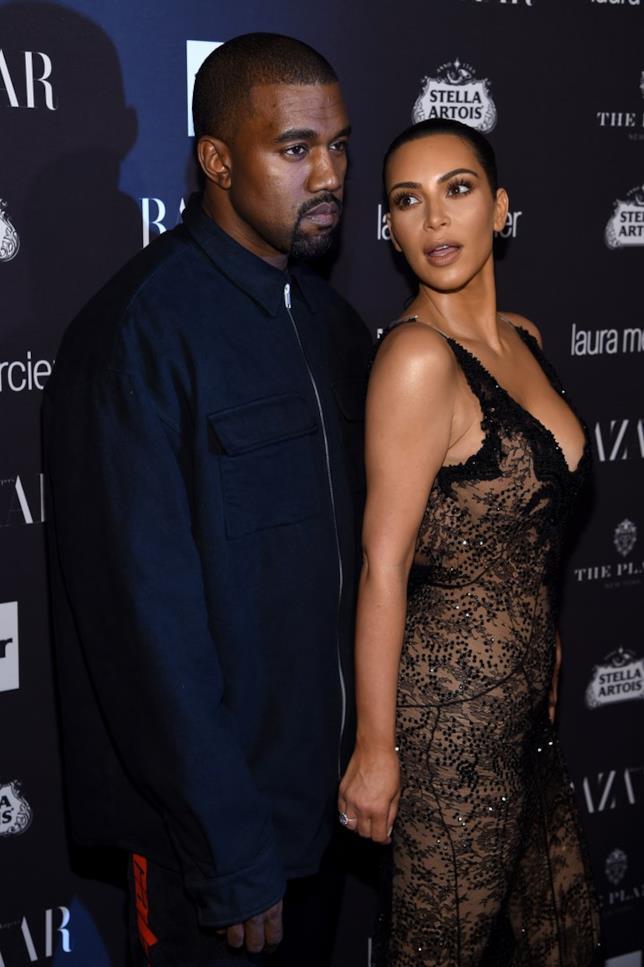 Kanye West insieme a Kim Kardashian