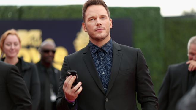 Chris Pratt durante gli MTV Movie Awards del 2018