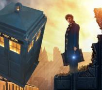 Eddie Redmayne come Newt Scamander e il TARDIS