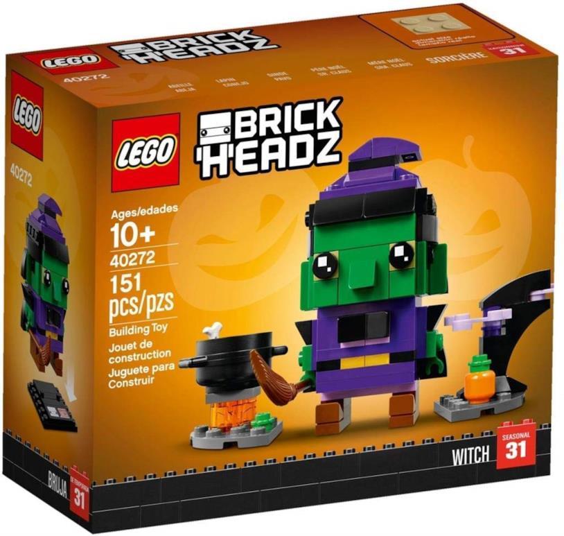 Set BrickHeadz Strega di Halloween
