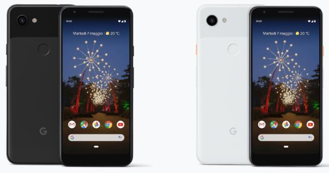 Google Pixel 3a XL in nero e bianco