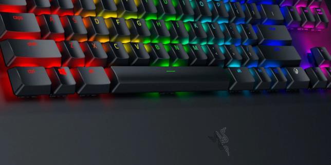 Dettaglio della tastiera meccanica Razer Turret