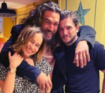 Emilia Clarke, Jason Momoa e Kit Harington