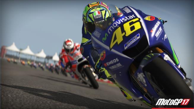Valentino Rossi corre sulle piste di MotoGP 17