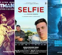 I poster dei film Rocketman, Selfie, Godzilla II - King of the Monsters