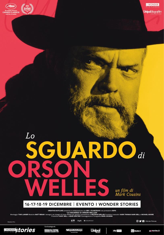 Il poster del documentario Lo sguardo di Orson Welles