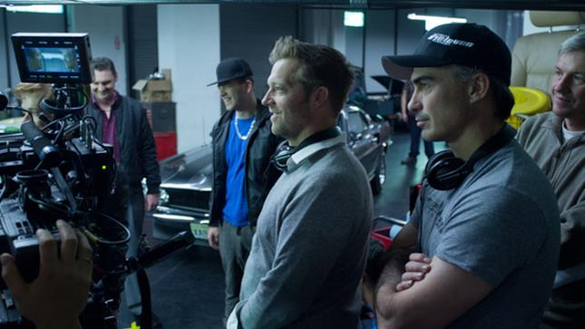 David Leitch a lavoro sul set