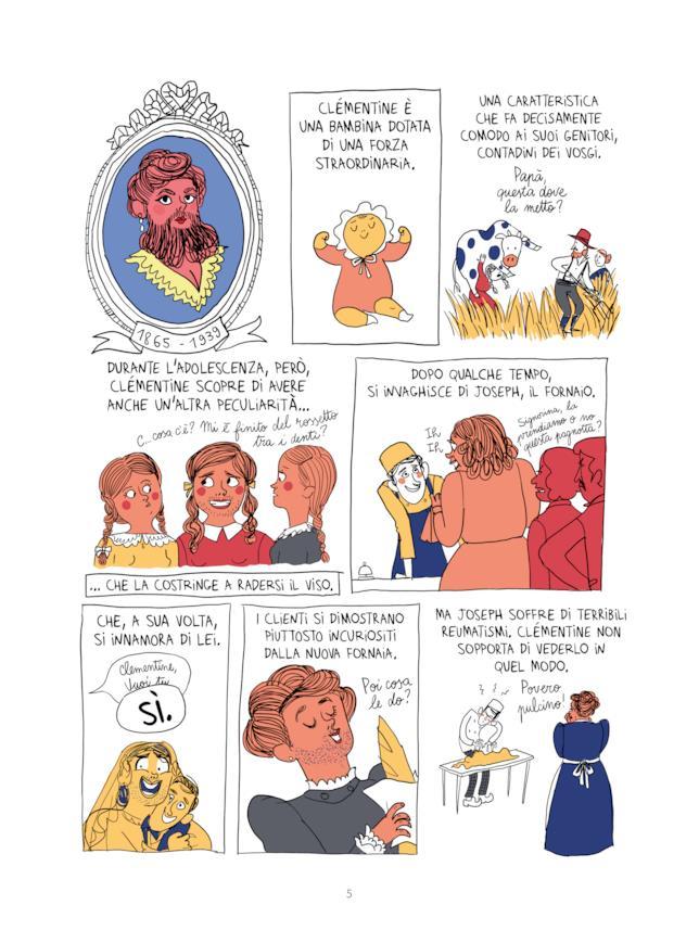 La Donna barbuta secondo la fumettista Bagieu
