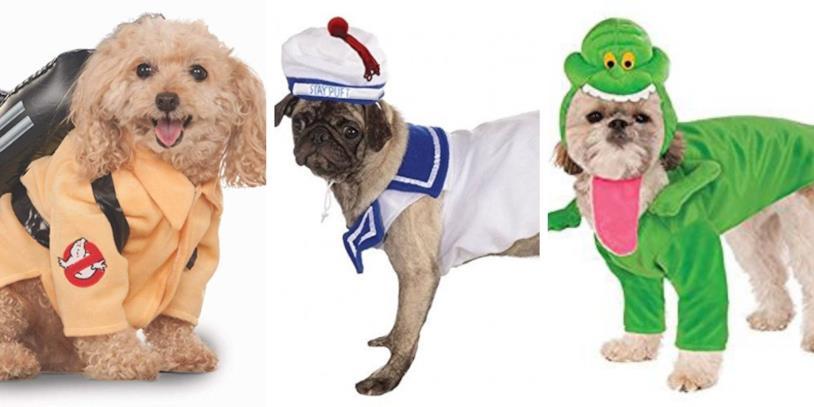 Ghostbusters, i costumi per i cani di Slimer, Stay Puft e acchiappafantasma