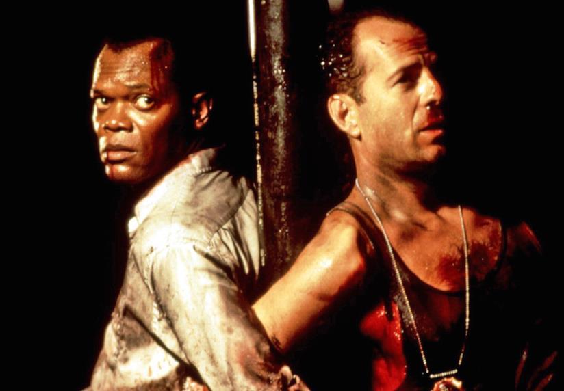 Samuel L. Jackson e Bruce Willis in una scena del film