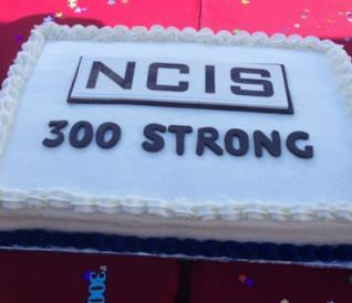La torta realizzata per il 300esimo episodio di NCIS