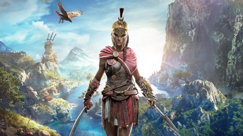 Kassandra, protagonista di Assassin's Creed Odyssey, in un concept art