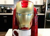 Robert Downey Jr. macchina per il caffé Iron Man