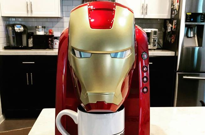 Robert Downey Jr. macchina per il caffé Iron Man