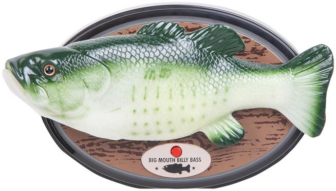 Il Big Mouth Billy Bass con il logo di Amazon Alexa