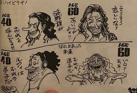 Oda disegna Usopp invecchiato