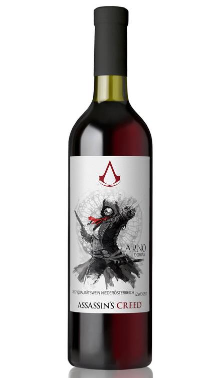 La bottiglia di vino dedicata ad Arno di Assassin's Creed