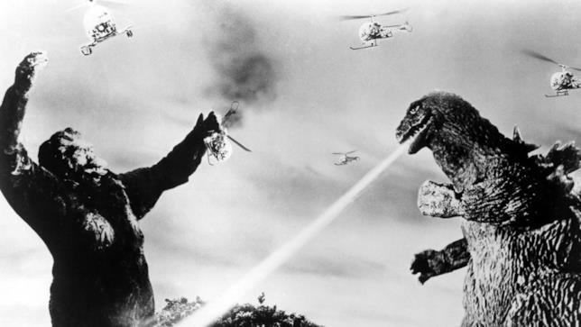 Una scena tratta da Il trionfo di King Kong del 1962