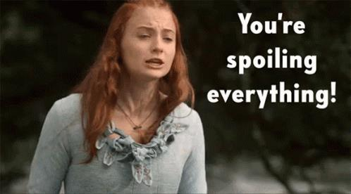 Neanche a Sansa piacciono gli spoiler