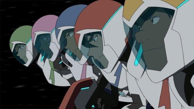 Pidge, Allura, Lance, Shiro e Hunk nella stagione 7 di VLD