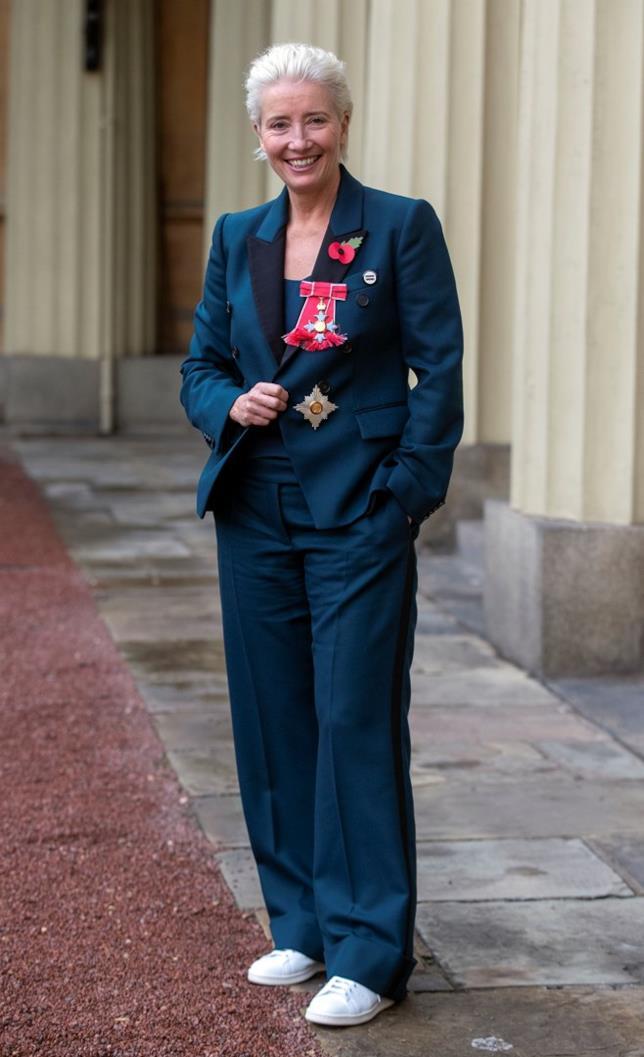 Emma Thompson durante la cerimonia per il conferimento del titolo