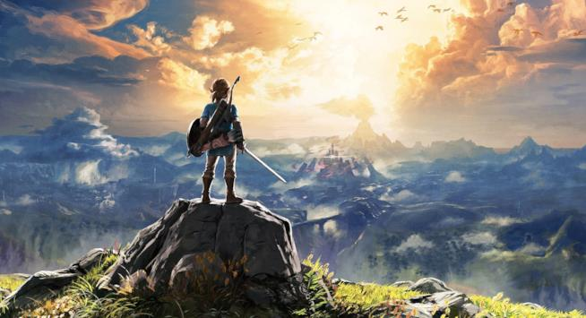 Link scruta l'orizzonte in The Legend of Zelda: Breath of the Wild