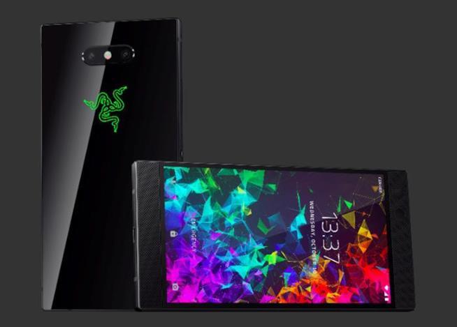 Front e retro del Razer Phone 2