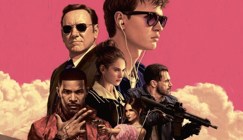 Il cast di Baby Driver - Il Genio della Fuga nel poster del film