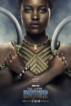 Lupita Nyong'o è Nakia nel character poster del film Black Panther