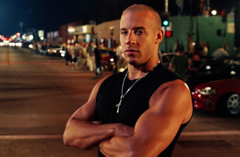 Vin Diesel sul set di Fast & Furious