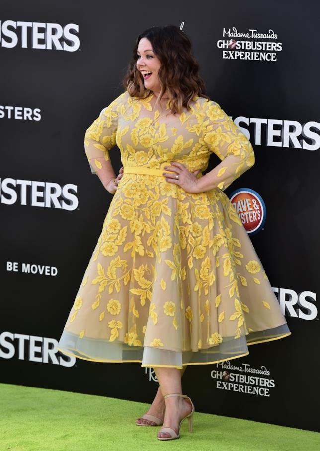 Melissa McCarthy sul red carpet della premiere di Ghostbusters