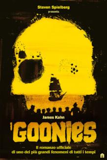 La copertina del romanzo I Goonies