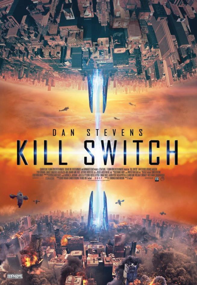 Lo spettacolare poster di Kill Switch, l'atteso film con Dan Stevens