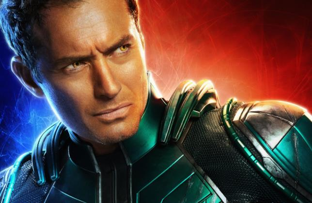 Jude Law in un character poster di Captain Marvel
